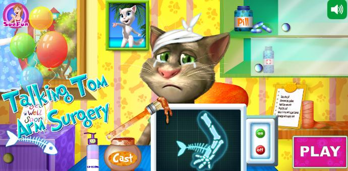 Talking Tom Arm Surgery Game for Kids